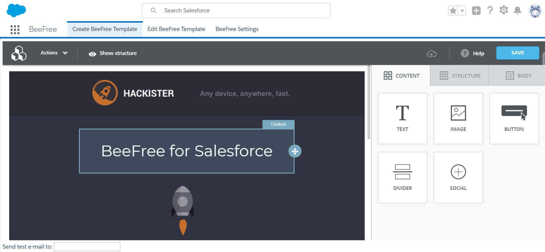 Salesforce Appexchange Series Beefree Responsive Email Templates